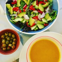 Homemade soup & salad